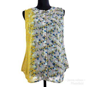 Cabi Style # 5221 (Size S) Yellow Gray Floral